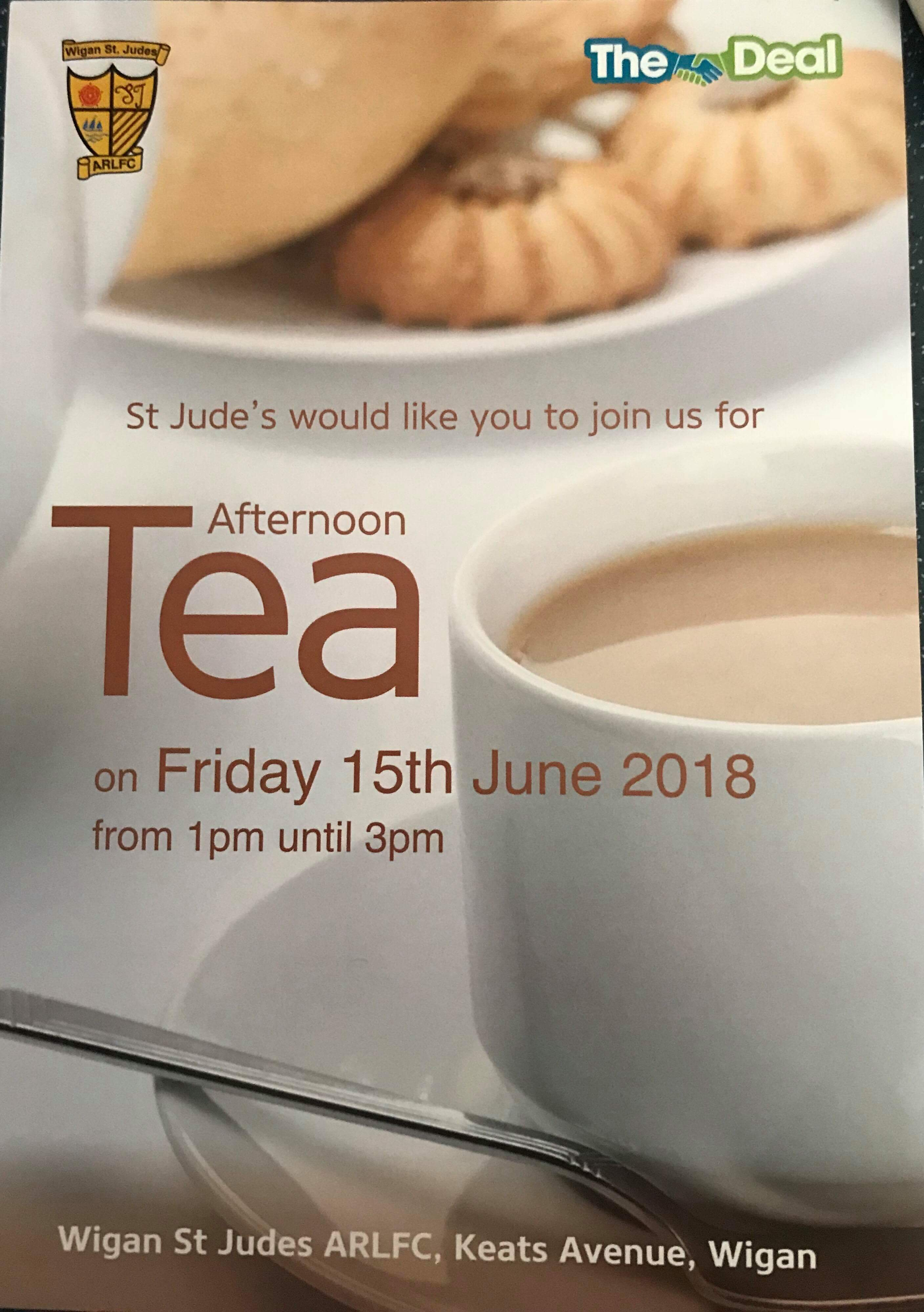 Afternoon Tea at Wigan St Judes