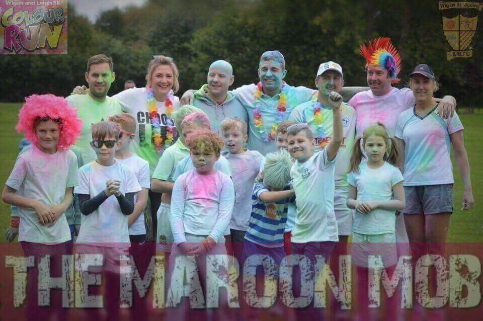 Under 8's - Maroons - 5k Colour Run